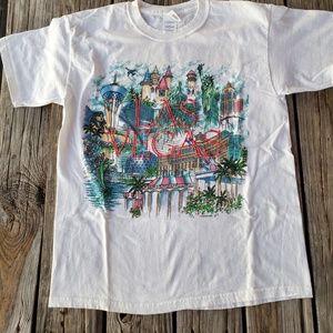 Vintage 90s Las Vegas Textured Shirt Size Large